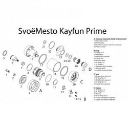 Kayfun Prime parti di ricambio